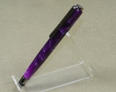 Stylus - Purple and Black Acrylic with chrome hardware (item 755)