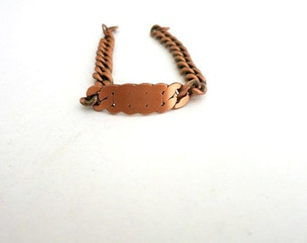 Copper ID Bracelet Curb Link