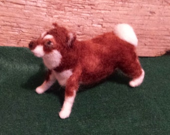 felted husky dog