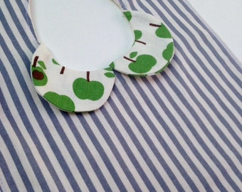 Peter Pan Collar Bib - Stirpes and Green Apples