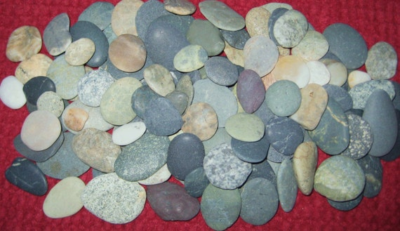 100 extra small beach stonesdiy wedding by trinidadtides for Where to buy flat rocks for crafts