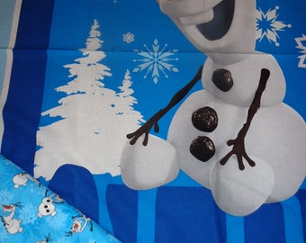 2 Yards Frozen Olaf Fabric /Panel and Contrasting Fabric