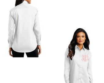 Long Sleeved Button Down Women's Monogrammed Shirt