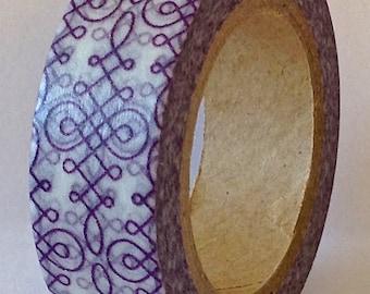 "SALE Washi Tape ""Lavender Swirls"" 10 meters"