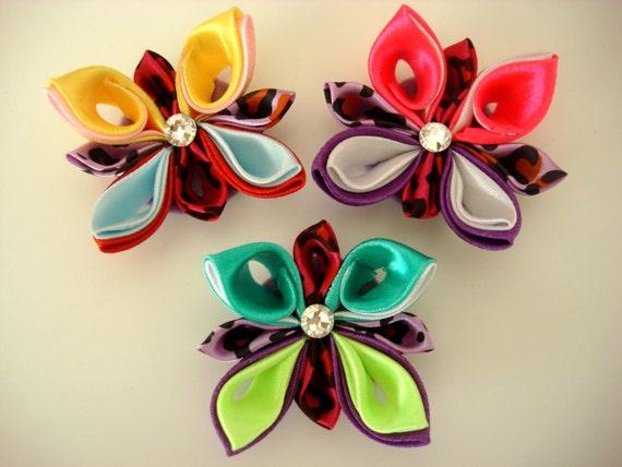 Kanzashi papillon tutorial fleur de ruban papillon pdf for Tutorial papillon