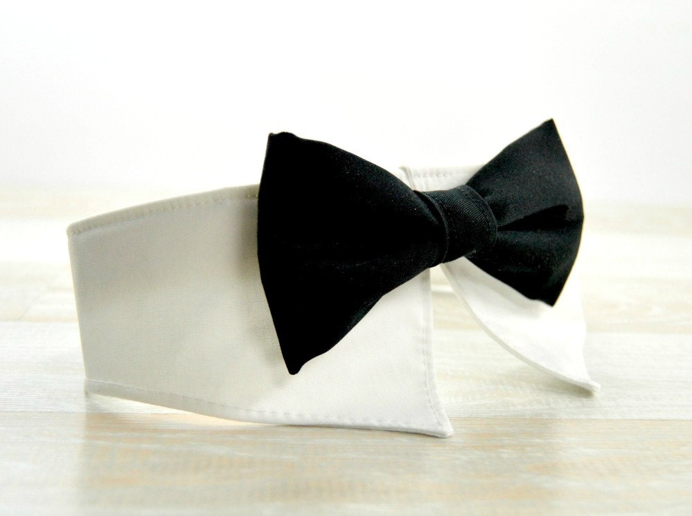 Formal Bow Tie Dog Collar Shirt Collar Dog By Littledogscloset