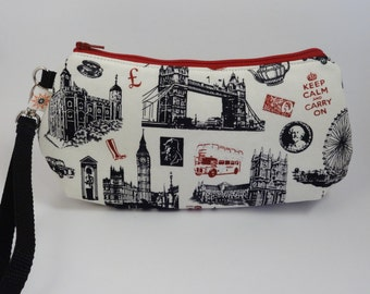 London Keep Calm and Carry On Wristlet