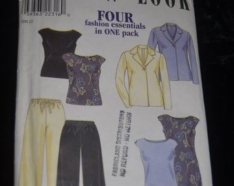 New Look 6804 Womens Jacket Top Dress and Pants Sewing Pattern - UNCUT - Sizes 8 - 18