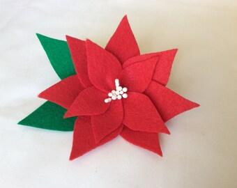 Poincettia Christmas Corsage