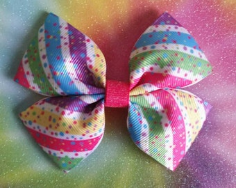 Silly Stripes hair bow