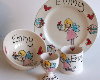 Personalized Children's Dinner Set