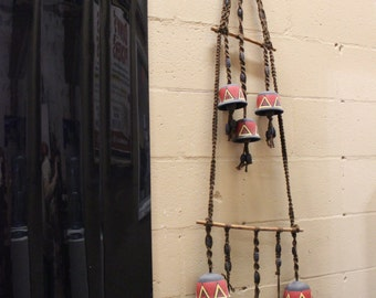 Clay Wind Chimes 8 Bells
