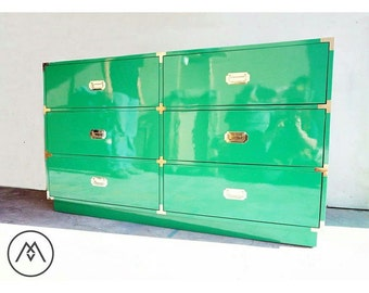BUILT TO ORDER // Custom Made Campaign Dressers and Credenzas - Automotive Finishes, Your Choice of Color