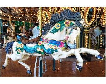 5 x 7 Galloping Carousel Horse - Original Photography Print