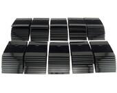 """100 pack - 2"""" x 2"""" Black Flocked Earring Display Hang Cards Jewelry Retail Packaging HP094"""