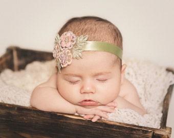 Newborn to Child {Leilani} Flower Applique Tieback, Newborn, Child Photography Prop