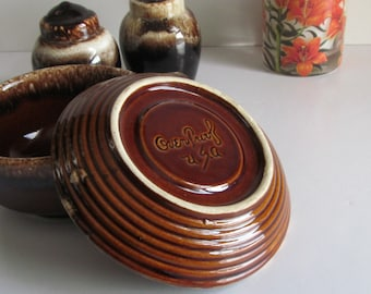 BeeHive Pottery Brown Drip  McCoy Pottery Bowl USA Pottery Bowl Beehive Stoneware Pattern