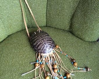 Tortoise Shell Handcrafted Cross Body Bag