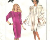 Simplicity 8731 Size 8-14 Bust 31.5-36 Semi Fitting Dress Loose Fitting Jacket Uncut