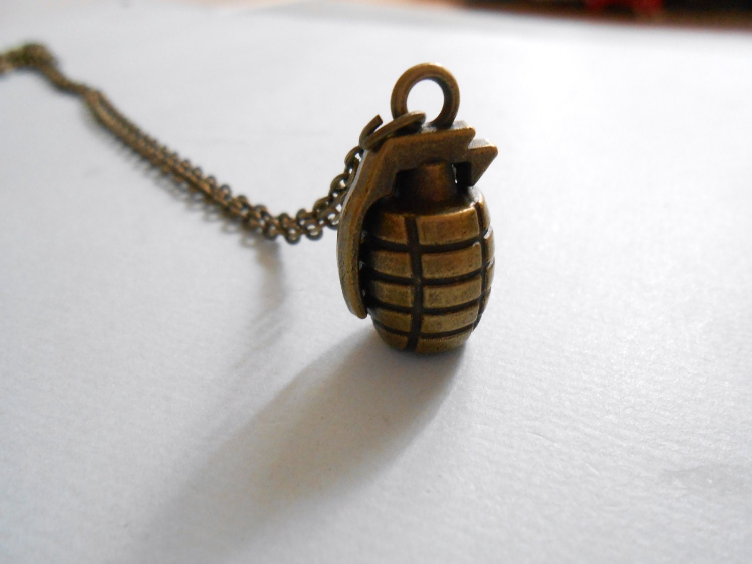 bomb necklace grenade necklace army necklace by