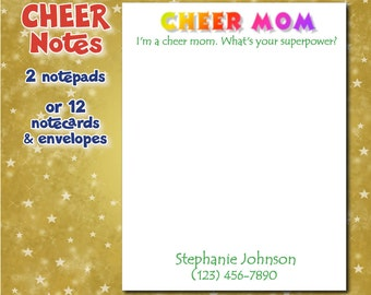 Personalized Notepads - Cheer Mom - Set of 2