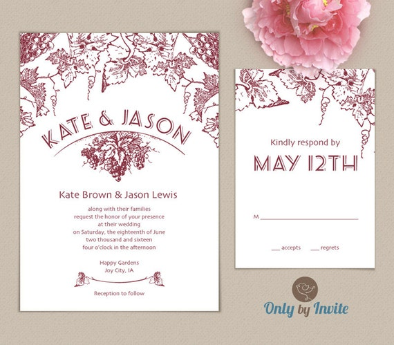 Affordable Wedding Invitations And Rsvp Cards Printed