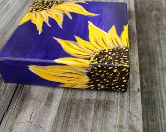Sunflower Decor, Sunflower Art, Sunflower Painting on Canvas, MADE TO ORDER