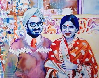 50th WEDDING ANNIVERSARY Gift For Indian Parents Sikh Couple Sikhism Punjabi