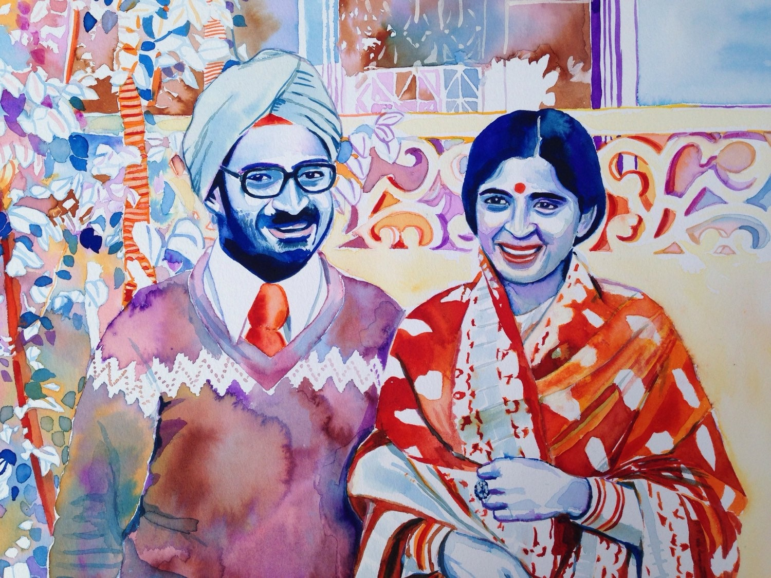 50th WEDDING ANNIVERSARY gift for Indian parents sikh couple