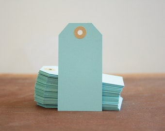 10 Soft Blue Pastel Blue Hang Tags, Light Blue Gift Tags, Coloured Tags, Parcel Tags, Paper Tags