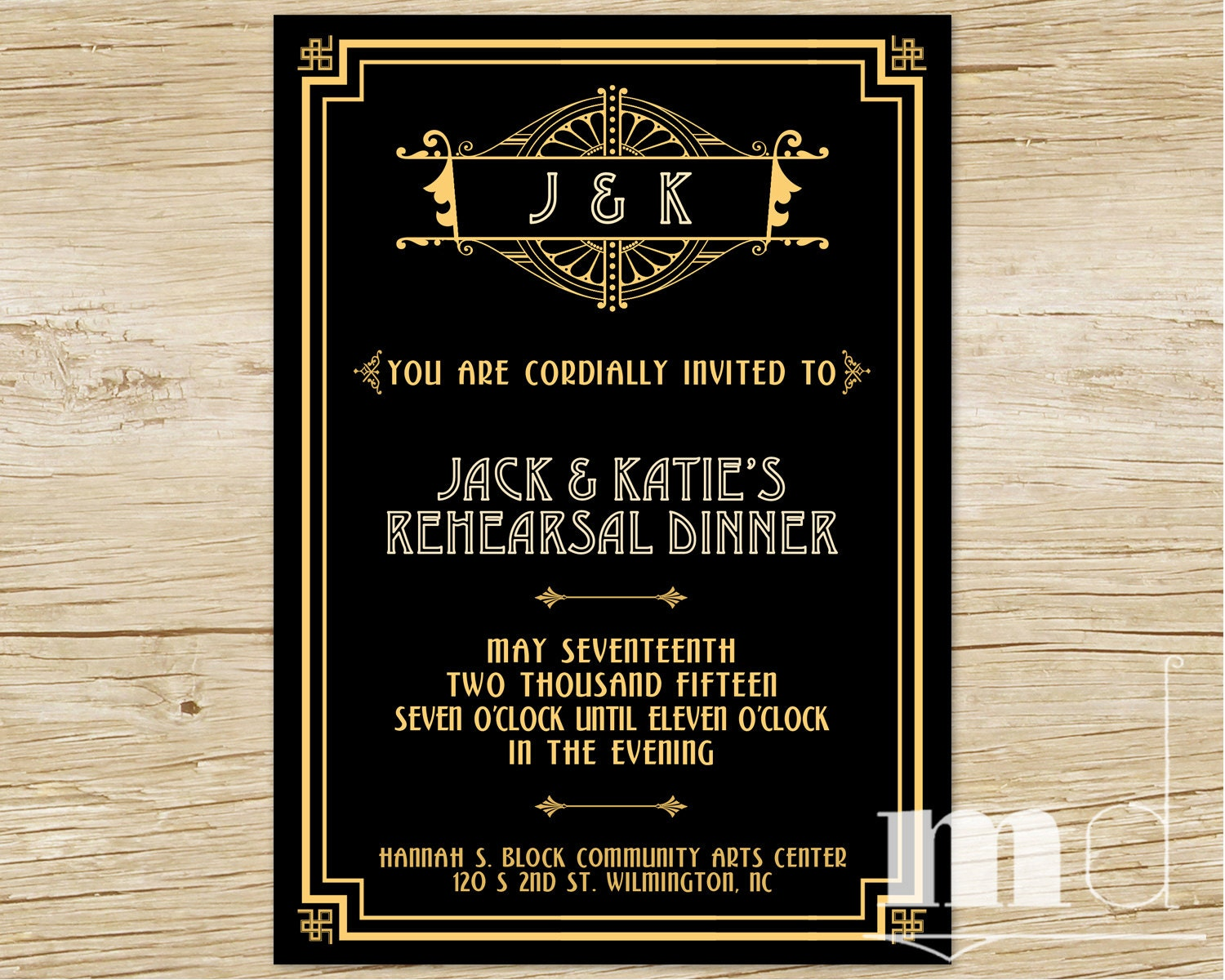Great Wedding Invites: Great Gatsby Rehearsal Dinner Invitation Gatsby Wedding