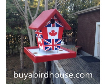 Canada & England Flags Bird Feeder