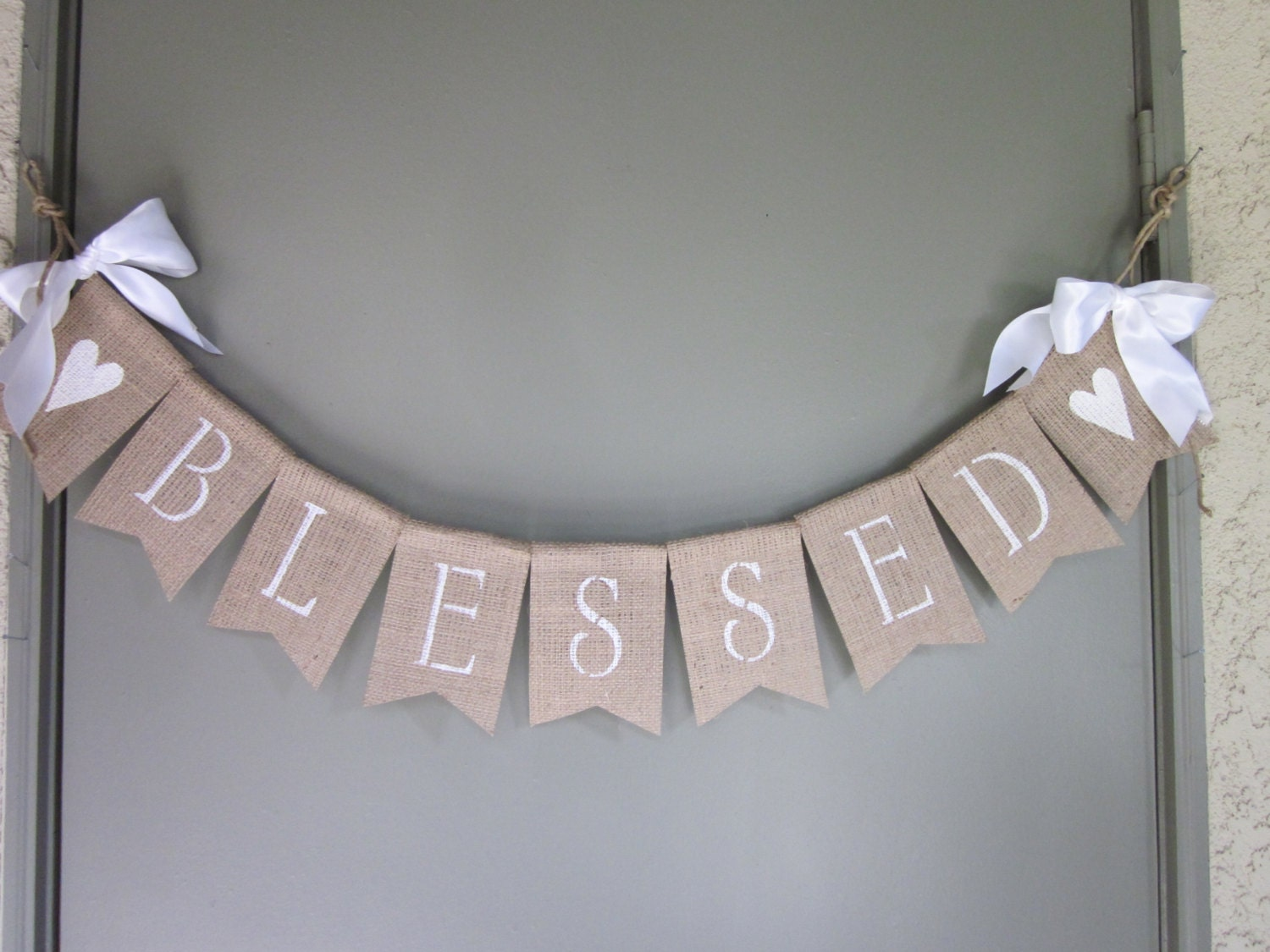 Christening Banner Baptism Banner Blessed By Quaintconfections