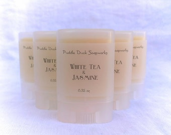 SALE White Tea & Jasmine Solid Perfume - Natural, long lasting personal fragrance