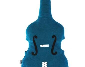 Blue velvet cushion violin, lullaby
