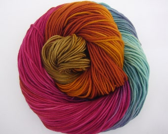 Hand dyed Double knit weight yarn 100% Superwash Merino  - Dazzling