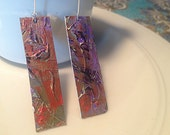 hand painted, wearable art earrings on wires