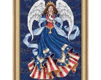 Cross Stitch Kit - Patriotic Angel