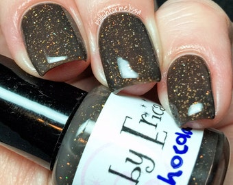 Dark Chocolate handcrafted artisan nail polish