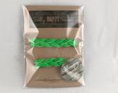 Mommy & Me Braided Bracelet Set - Neon Green Bracelet Set - Leather Bracelet - Leather Cuff - Kids Colorful Leather Cuff - Braided Bracelet