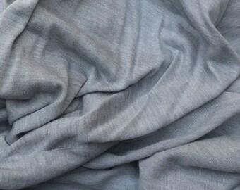 Modal Silk Fabric Jersey Knit by the Yard Semi Sheer - Silver
