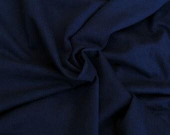 "Cotton Fleece Fabric by the Yard SEA BLUE 62""W  2/15"