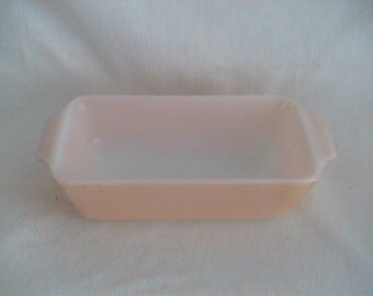 Loaf Pan Fire King Anchor Hocking No 441 USA Mid Century Shabby Lusterware