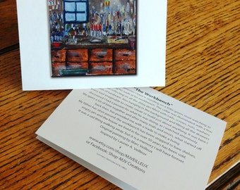 "Our Story Notecard - ""The Workbench"""