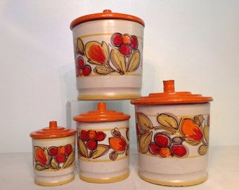 Mod Canister Set Majolica Made in Italy