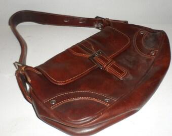 i medici  firenze  leather purse  great brown color  adjustible shoulder strap