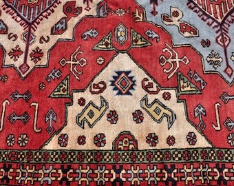 SALE -- Persian Shahsavan Geometric Rug -- 10 ft. 6 in. by 6 ft. 7 in.