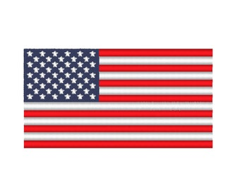 American Flag United States USA Embroidery Design