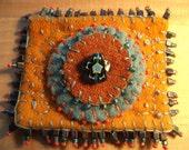 Felt Orange Pin Brooch