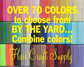 """FOE CHOOSE any 5 Yards Assorted ELASTIC by the Yard for Headbands, Hair Ties, Shiny 5/8"""" inch, Satin Elastic Soft, 15mm wide"""